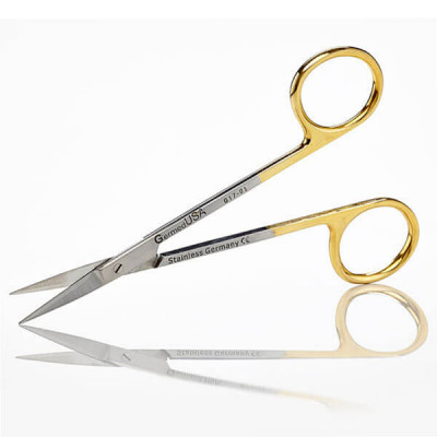 Scissors, Iris, 11.5cm, Straight, TC Insert Jaws