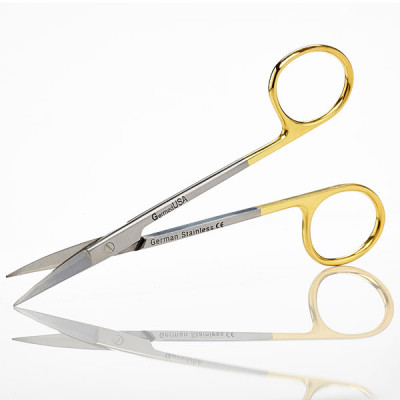 Scissors, Iris, 11.5cm, Curved, TC Insert Jaws