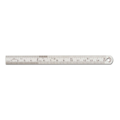 Ruler, Stainless Steel, 15cm, 6""