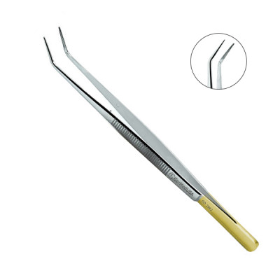 Tweezers, Tissue Forceps, Goldman-Fox, 15cm, Right Tip Curve