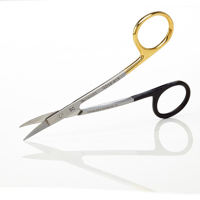 Surgical LaGrange Scissors, Double Curve, Tungsten Carbide Super Sharp